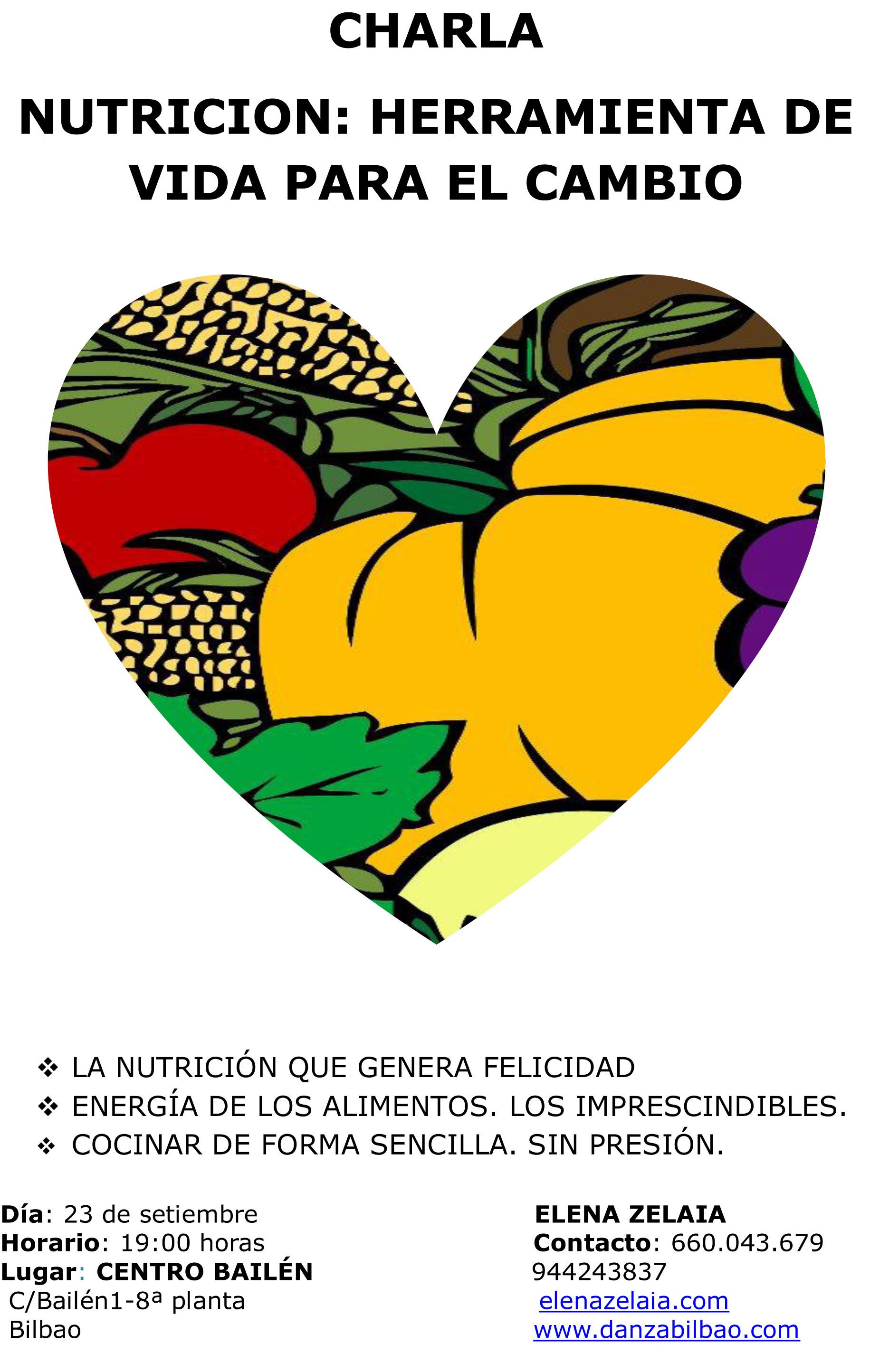 Charla nutrición: 23/9/2013