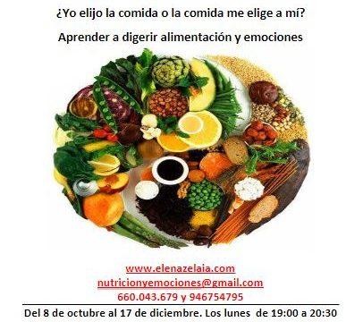 Alimentación saludable.  Curso  octubre - diciembre 2018